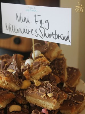Mini Egg Millionaire's Shortbread perfect for using up left over chocolate