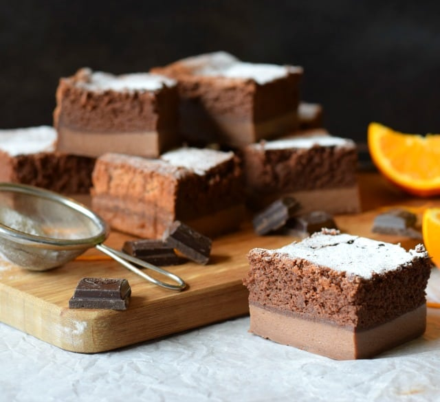Magic Cake recipe, flavoured with chocolate orange
