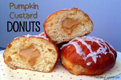 Homemade Donut recipe with a pecan custard filling great for using up five egg yolks