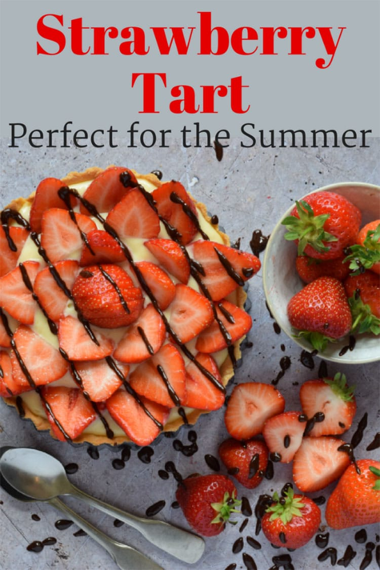 Find out how to make a Strawberry Tart with a creme patisserie (pastry custard) filling for a yummy summer dessert.