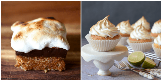 Recipes finished with meringue / smores