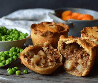Vegetarian Meat Potato Pies Only Crumbs Remain
