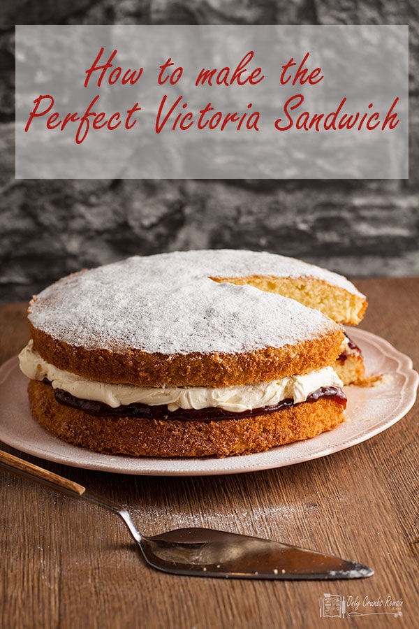the perfect victoria sandwich with slice removed